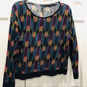 Cute chevron print sweatshirt large